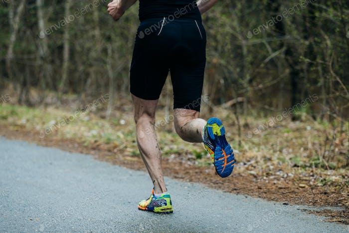 Nahaufnahme Füße der jungen Runner Männer