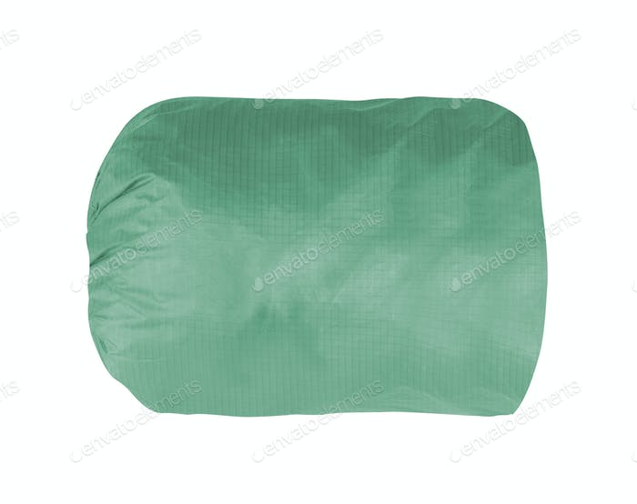 green backpack isolated