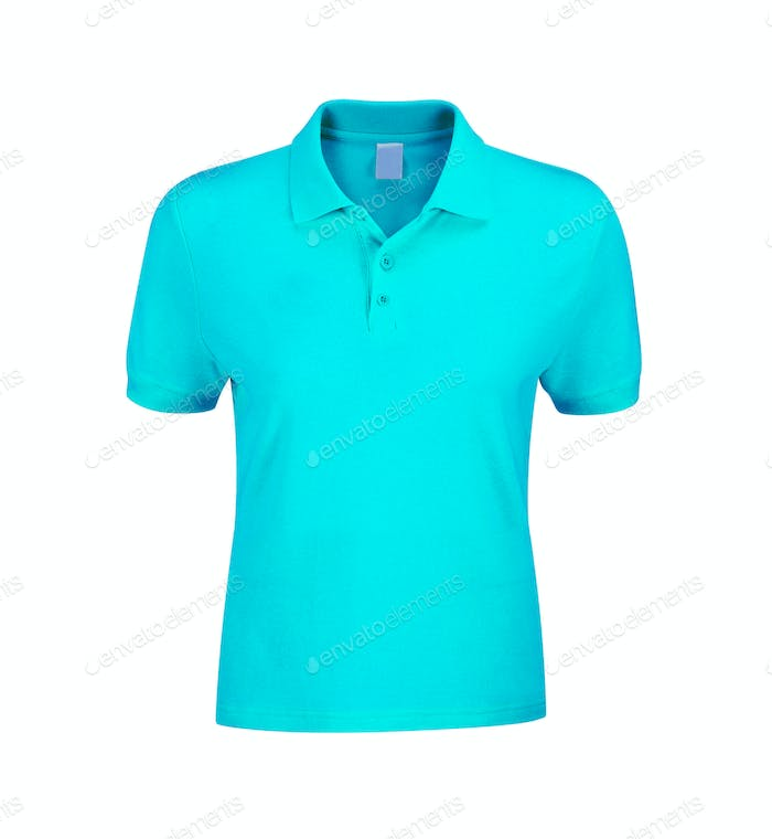 Polo Shirt Blue isolated