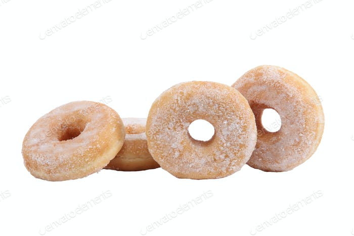 Four sugared dough-nuts