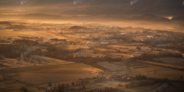 View of my hometown Jesenice from Ajdna hill