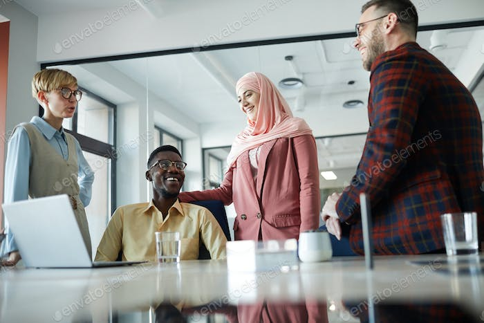 Multi-Ethnic Business Team in Conference Room
