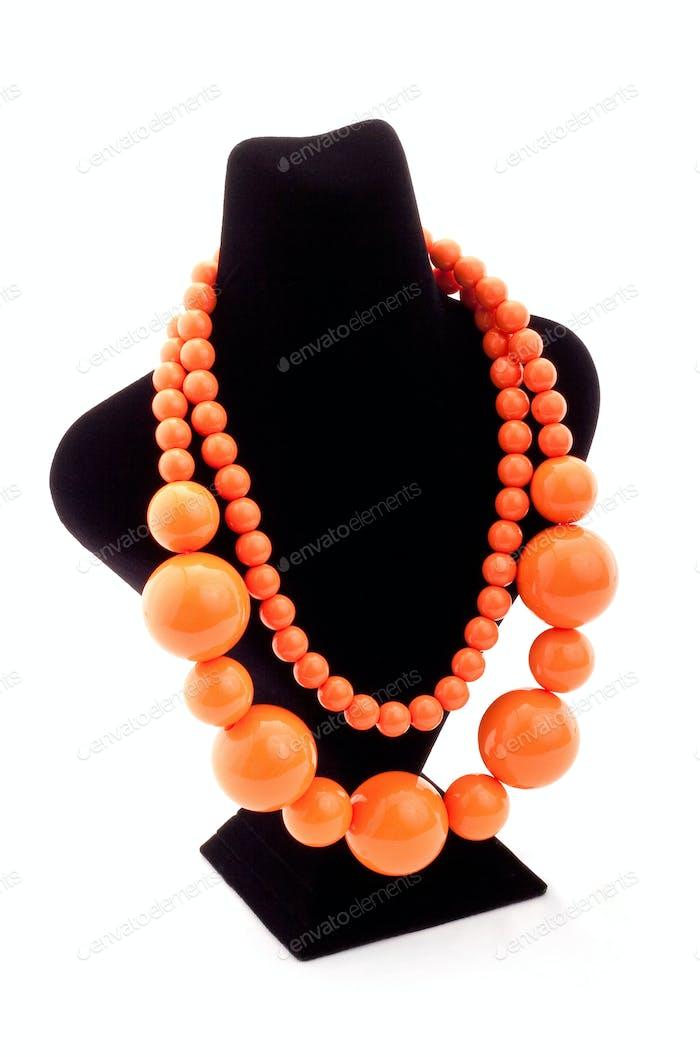 Orange color necklace