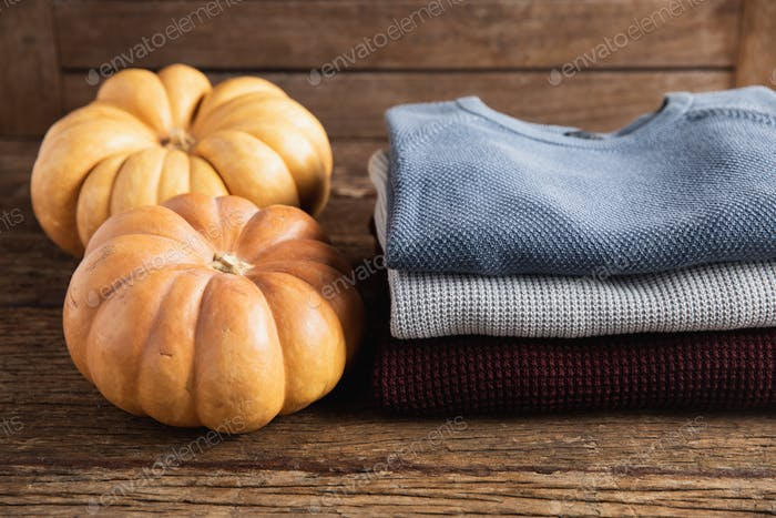Autumn flat lay with clothes
