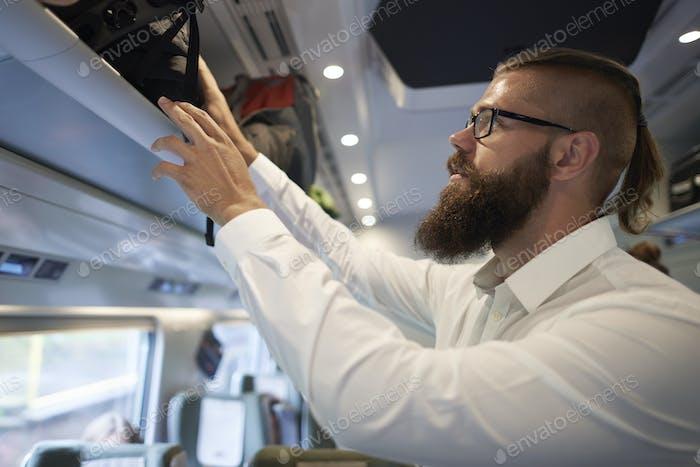 Das Ende der Fahrt mit dem Zug