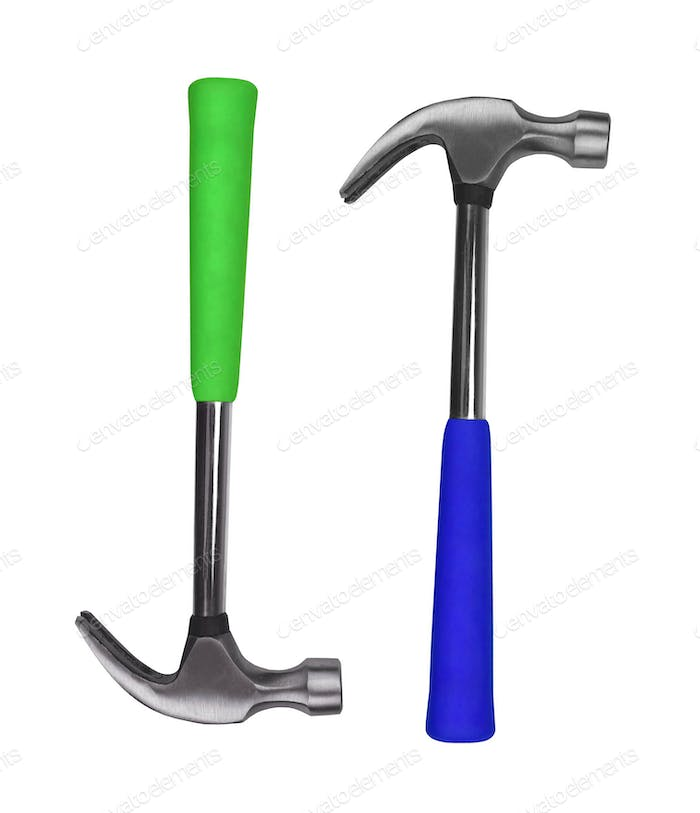 hammers on white background