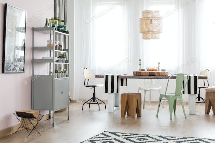 Space with dining table