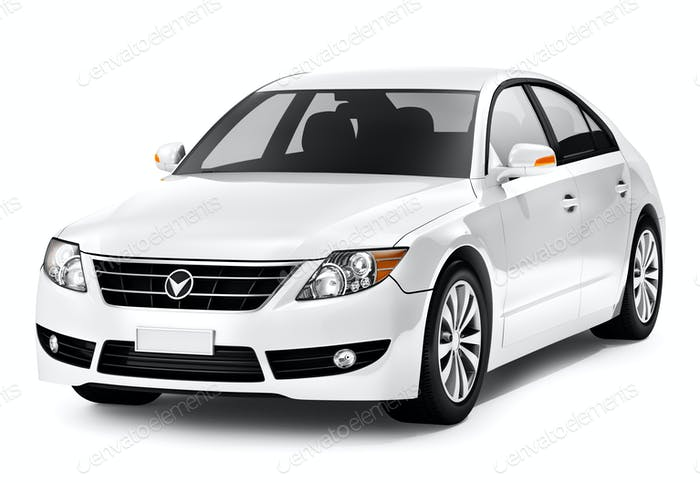 Weißes Smart-Auto