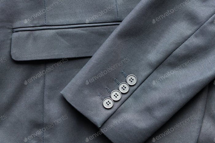 close up of business suit jacket