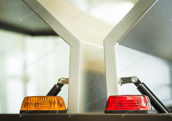 Two signal lights in plastic cases