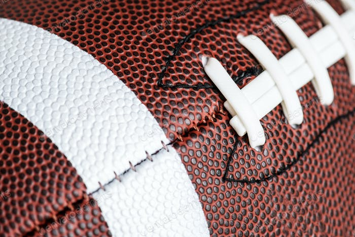 Makroaufnahme von American Football Ball Hintergrund
