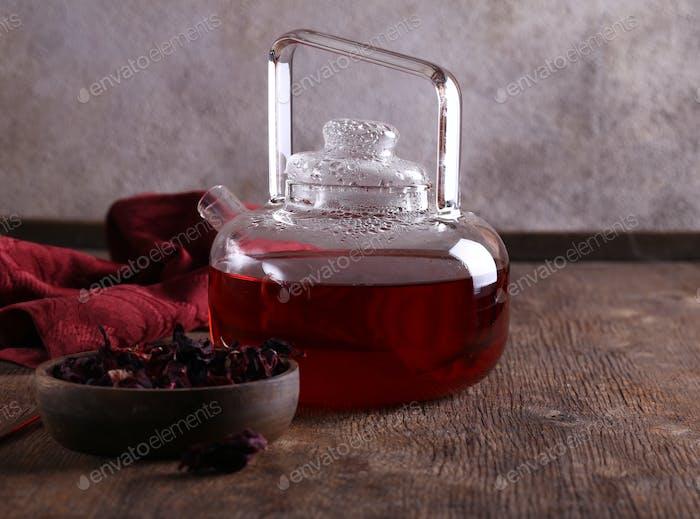 Hibiscus Red Flower Tea