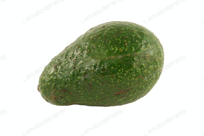 Isolierte Avocado auf weißem Hintergrund