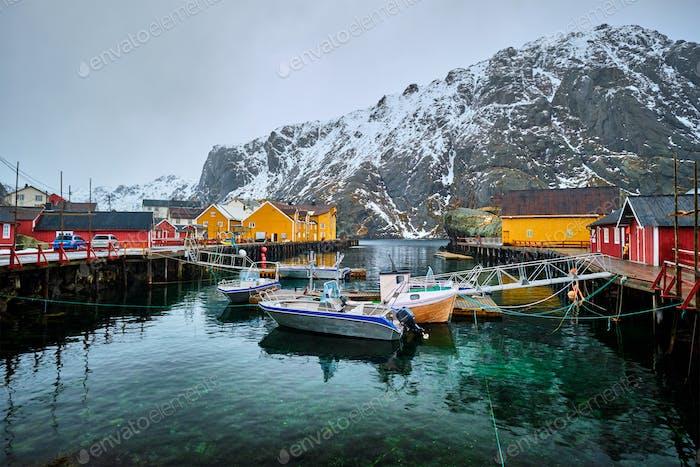 Pueblo pesquero de Nusfjord en Norwa