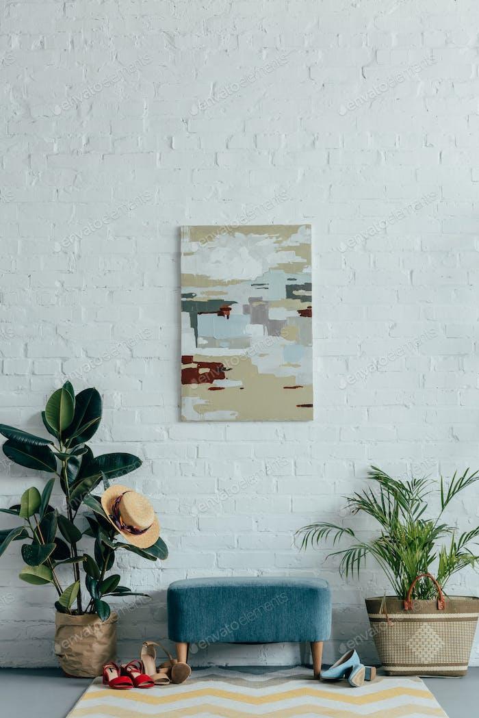 интерьер светлого современного коридора в квартире