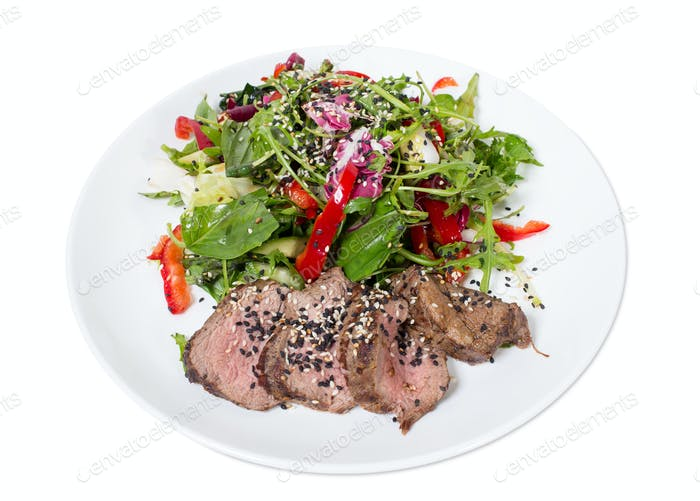 Grilled thai beef salad.