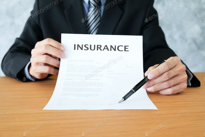 Insurance policy and policyholder must to sign.