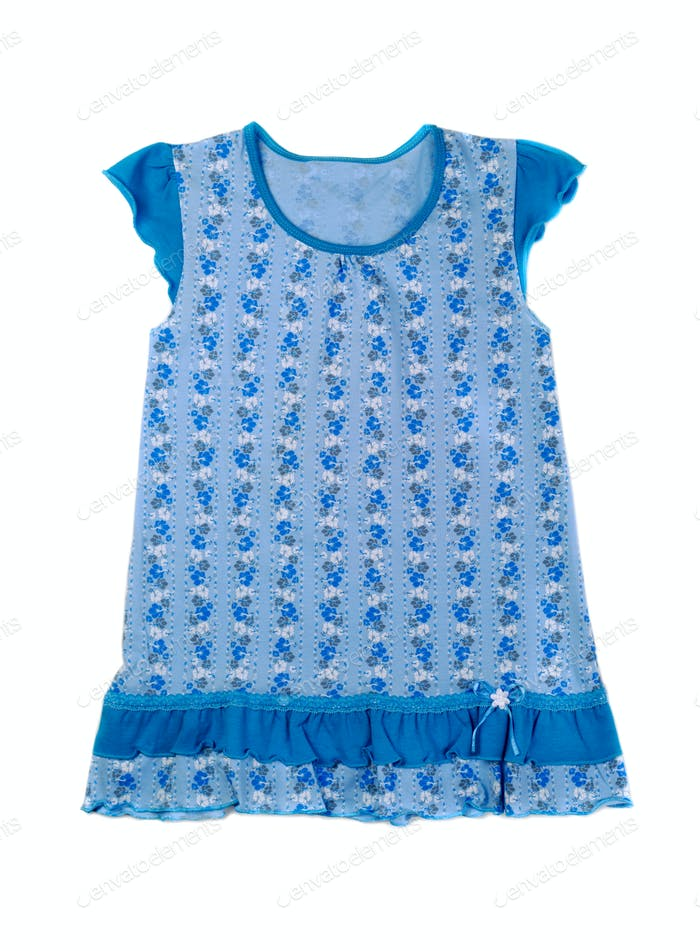 Blue cotton baby dress.