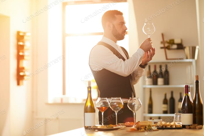 Sommelier in Sunlight