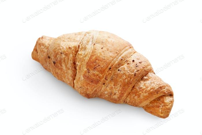 Frische köstliche Croissant isoliert auf weißem Hintergrund