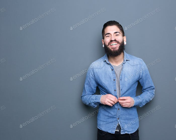 Attractive young man with beard