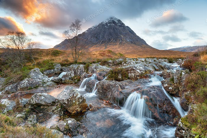Sunset at Buachaille Etive