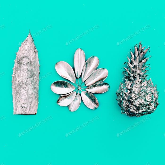 Tropical Silver set. Minimal art