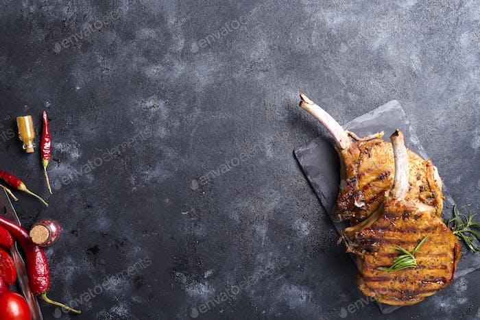 Gegrilltes Rindfleischsteak