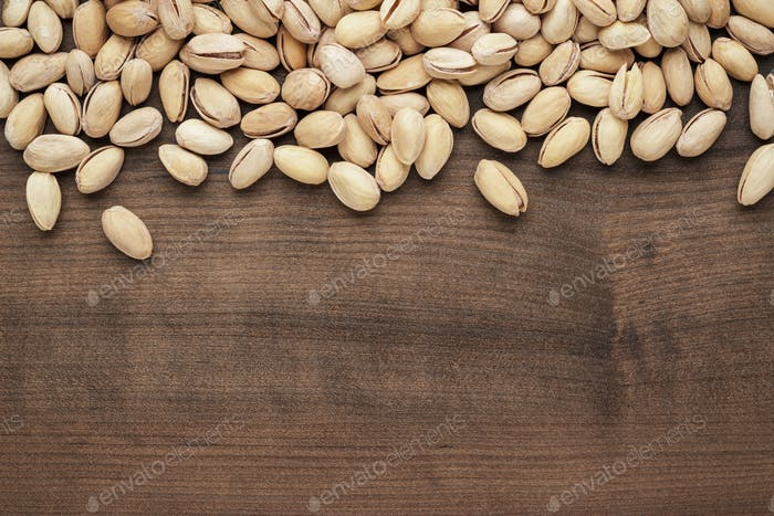 Pistachios On The Table Background