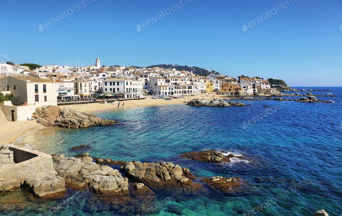 palafrugell fishing village at catalonia, spain