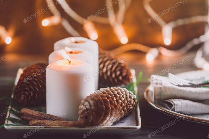 Winter cosy decoration