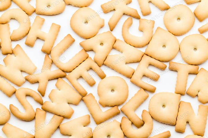 Pile of letter cookie