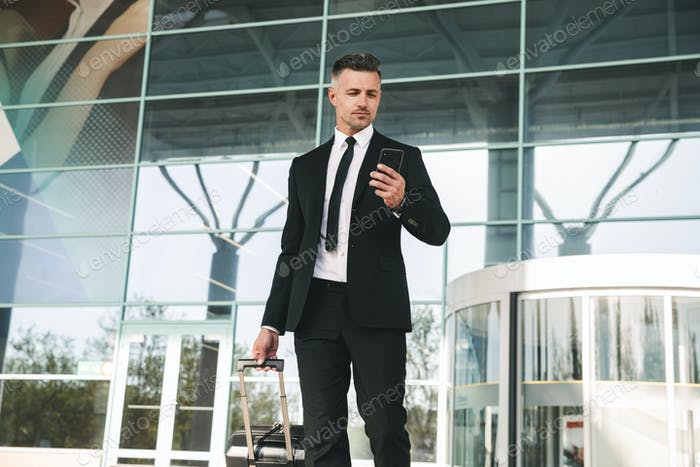Serious businessman dressed in suit