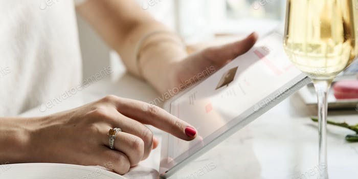 Young Woman Shopping Online Concept