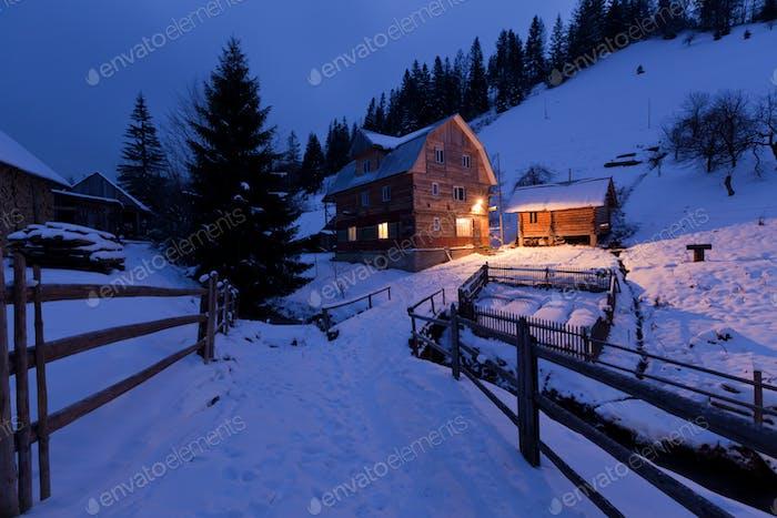 Mountainous house
