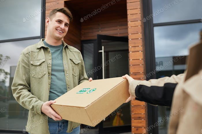 Man getting the parcel