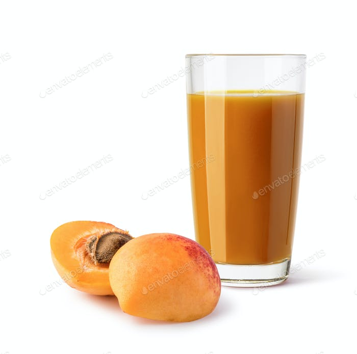 glass of mango apricot