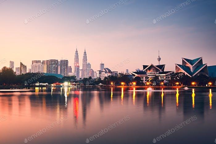 Kuala Lumpur bei Sonnenaufgang