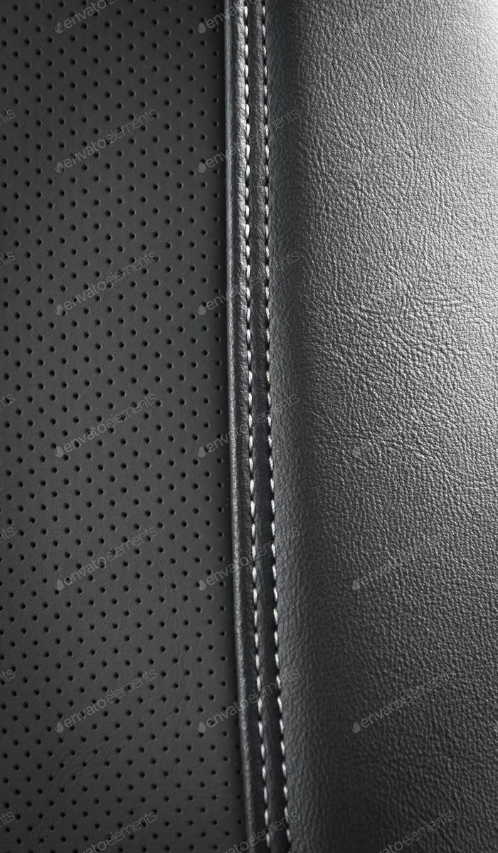 black car leather