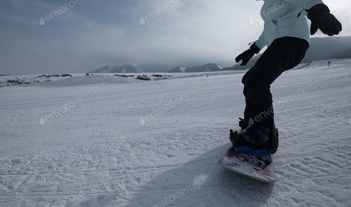 Snowboarding outdoors