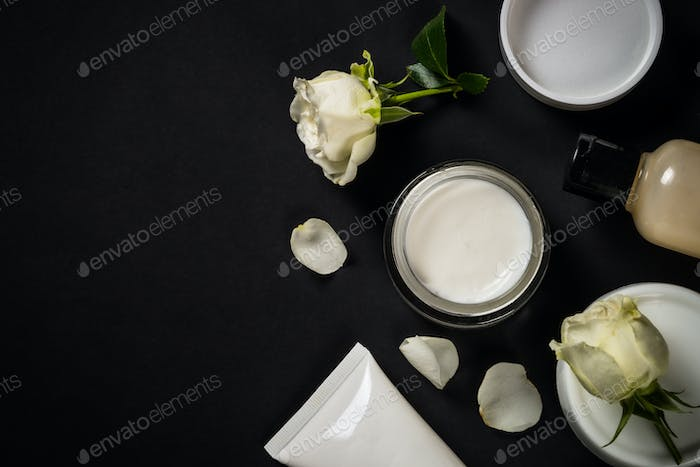 Natural cosmetics with rose oil