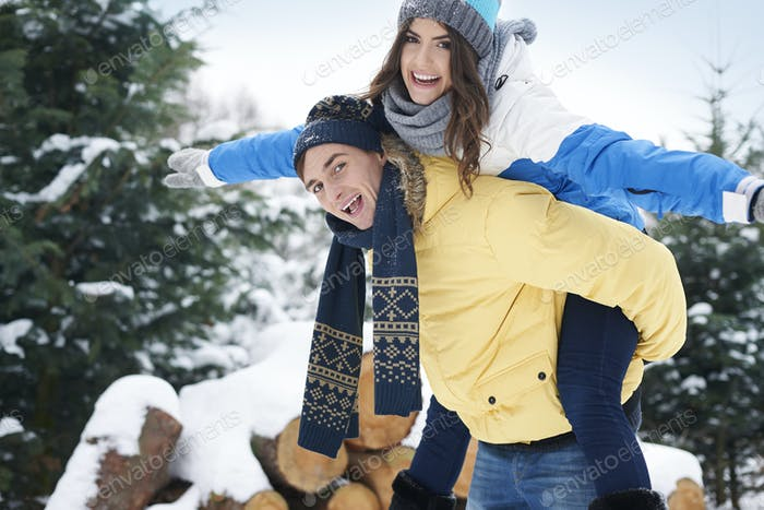 Winter is happy time for us