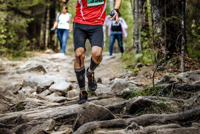 Running Leader Marathon Runner