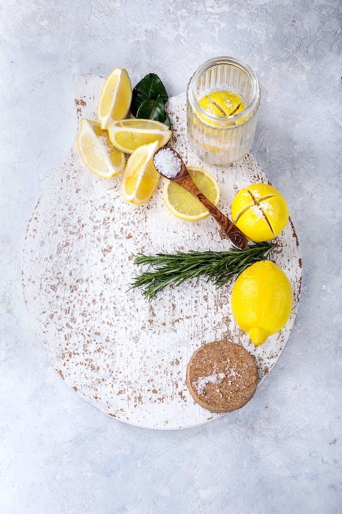 Marokkanische eingelegte Zitrone