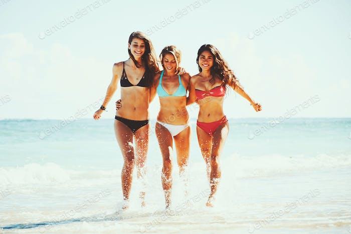Beautiful Girls Fun at the Beach