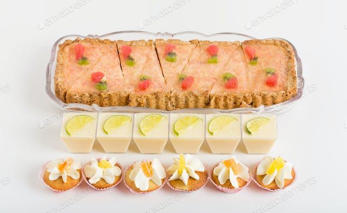 Various delicious desserts.