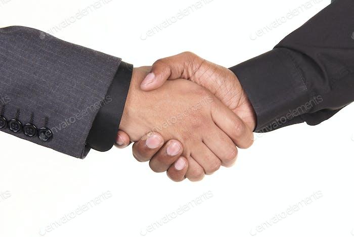 African American Businessmen Shaking Hands