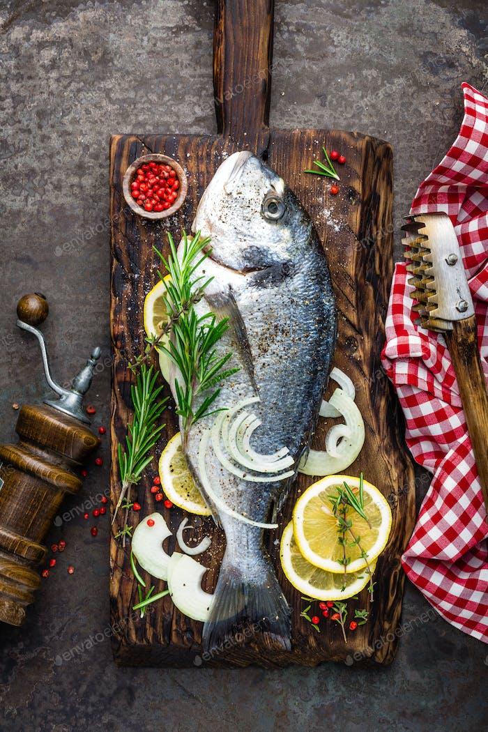 Fresh fish dorado
