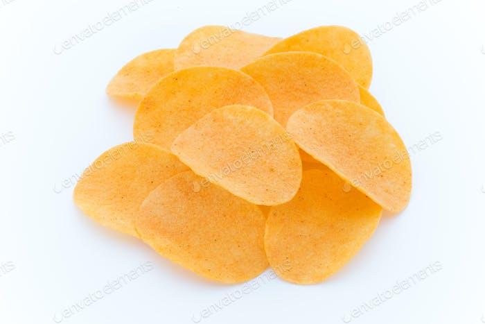 Картофельные чипсы на паприке. Эко еда.