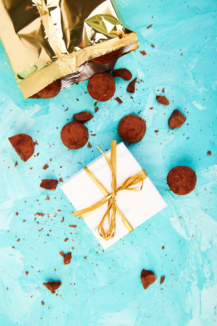 Chocolate Candy truffles fall out